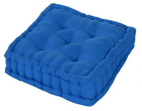 PLAIN BLUE COLOUR MICROFIBRE DINING / GARDEN CHAIR BOOSTER CUSHION SEAT PAD